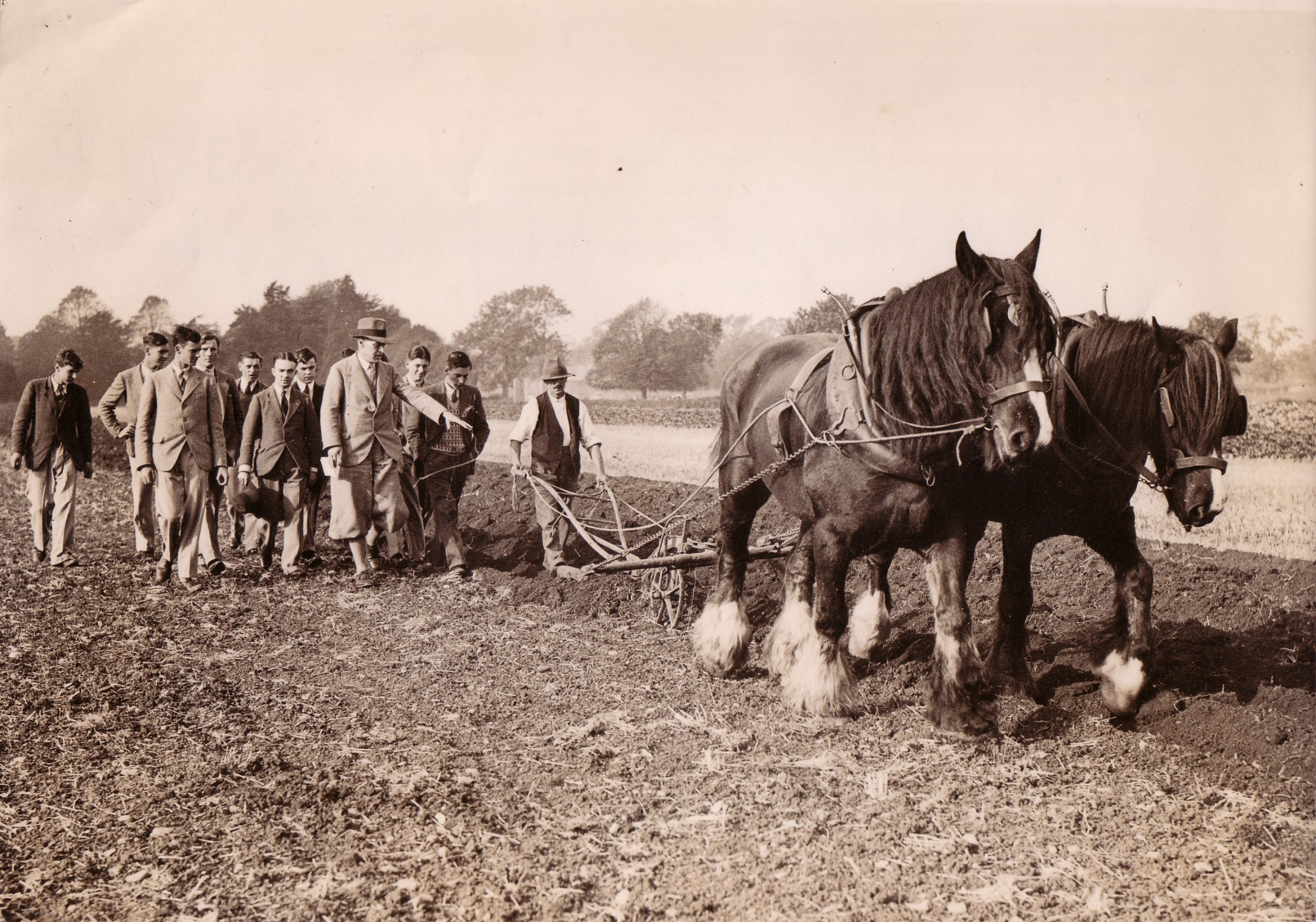 Ploughing demonstration, ca 1935